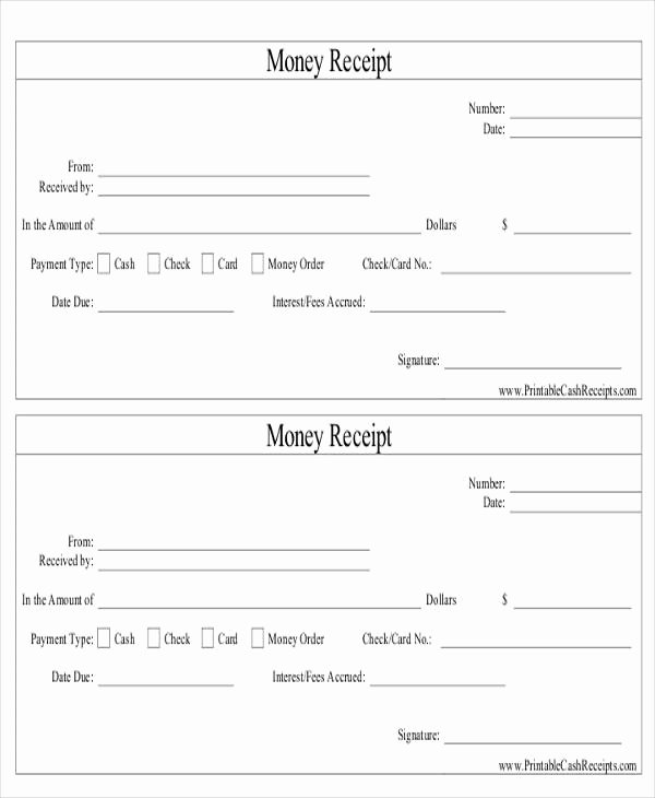 Money order Receipt Template Awesome 8 order Receipt Templates Free Samples Examples