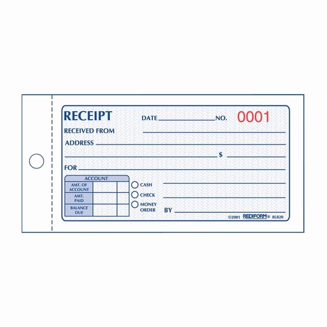 Money order Receipt Template Beautiful Printer