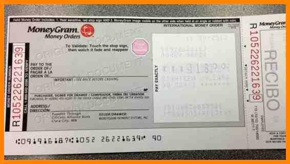 Money order Receipt Template Elegant Moneygram Receipt Template