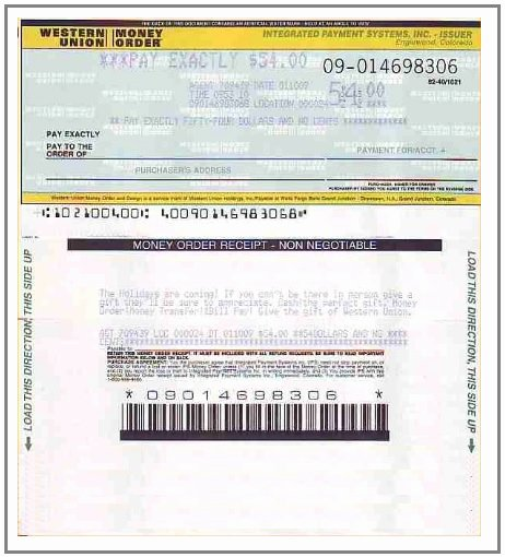 Money order Receipt Template Inspirational 5 Money order Receipt Templates