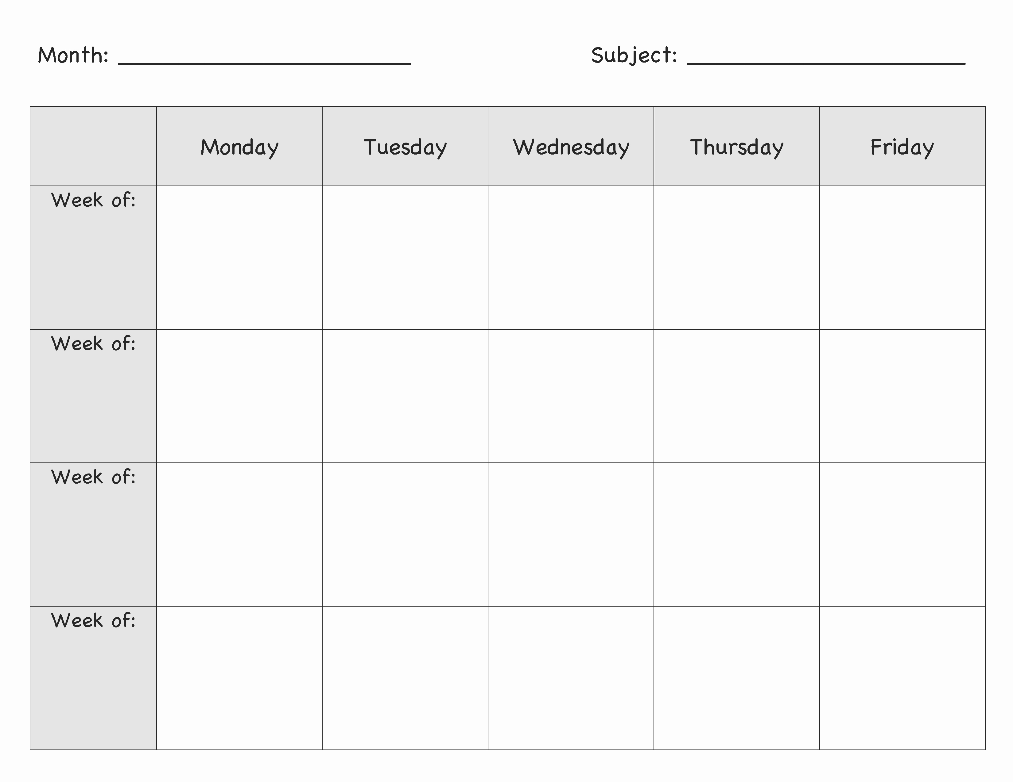 Monthly Lesson Plan Template Best Of Englishlinx