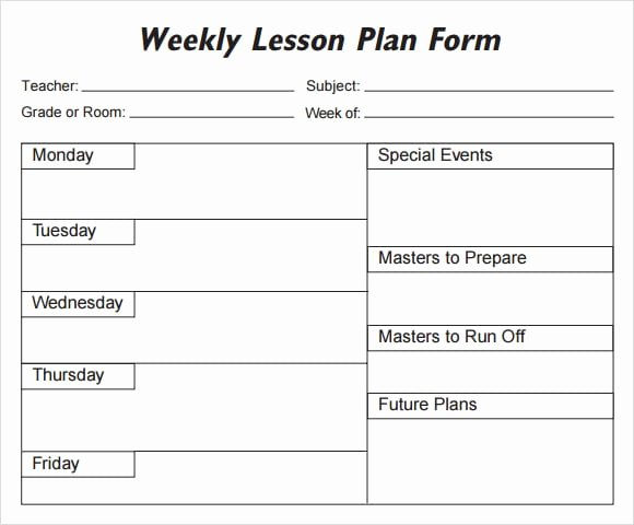 Monthly Lesson Plan Template Elegant 5 Free Lesson Plan Templates Excel Pdf formats