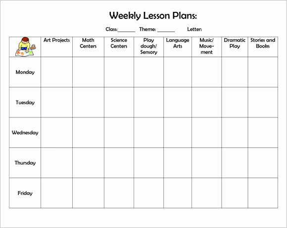 Monthly Lesson Plan Template Fresh 8 Weekly Lesson Plan Samples