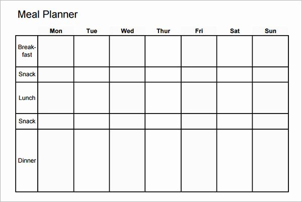 Monthly Meal Plan Template New Meal Planning Template 17 Download Free Documents In Pdf