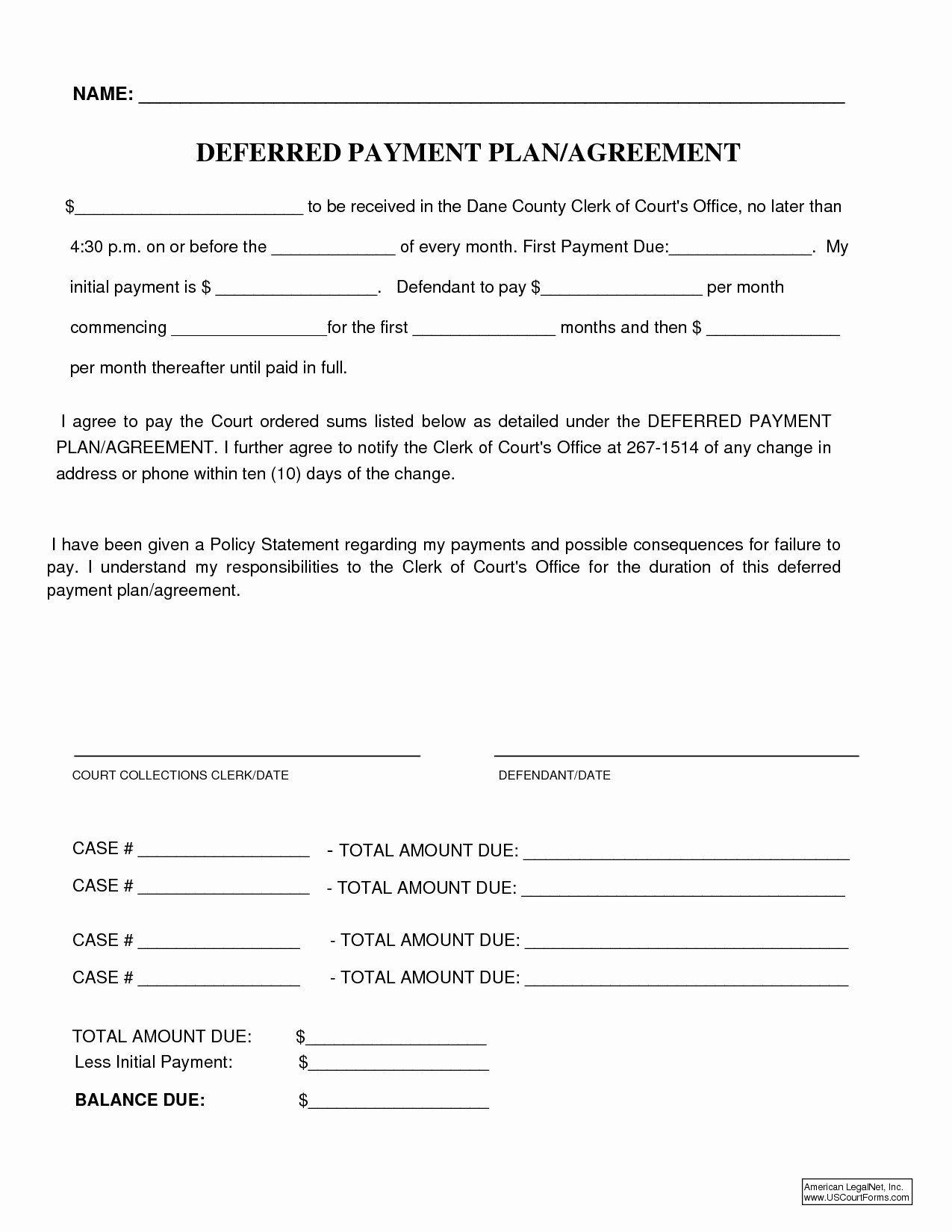 Monthly Payment Plan Template Lovely 10 Best Of Payment Plan Agreement form Editable