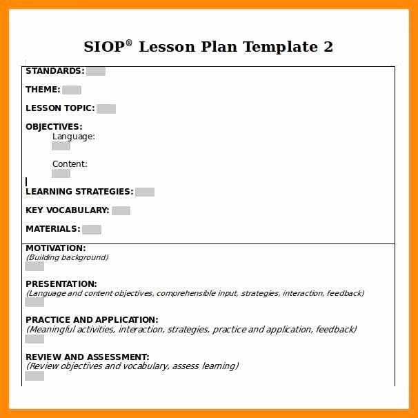Mopta Lesson Plan Template Beautiful Mopta Lesson Plan Template Siop Lesson Plan Template 2