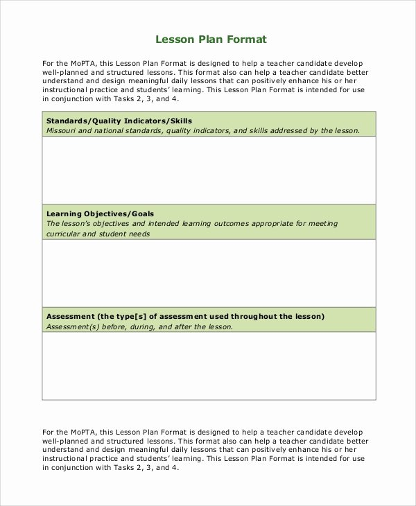 Mopta Lesson Plan Template Lovely 9 Lesson Plan Examples