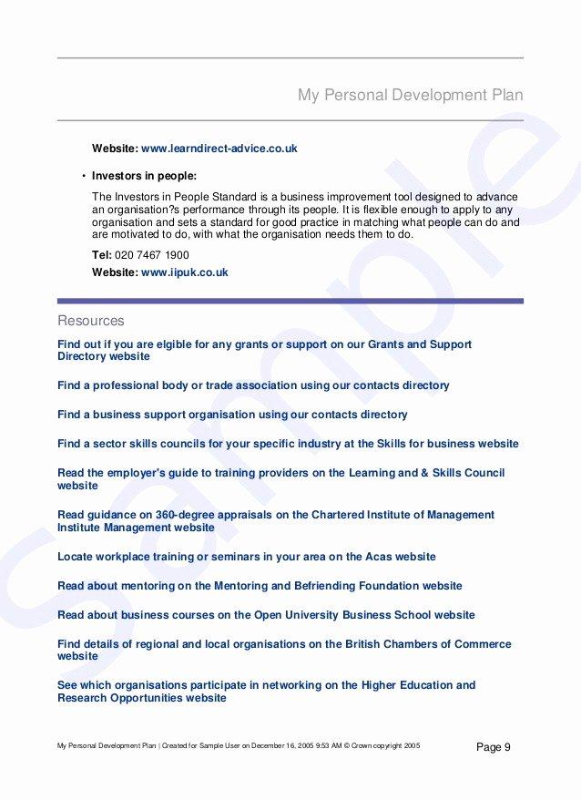 Mopta Lesson Plan Template New Professional Development Plan Sample