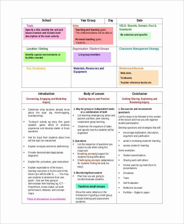 Mopta Lesson Plan Template Unique Mopta Lesson Plan Template Sample Lesson Plan format 8