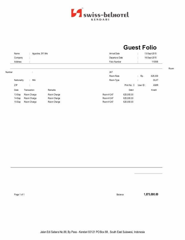 Motel 6 Receipt Template Beautiful Agus Tl Na
