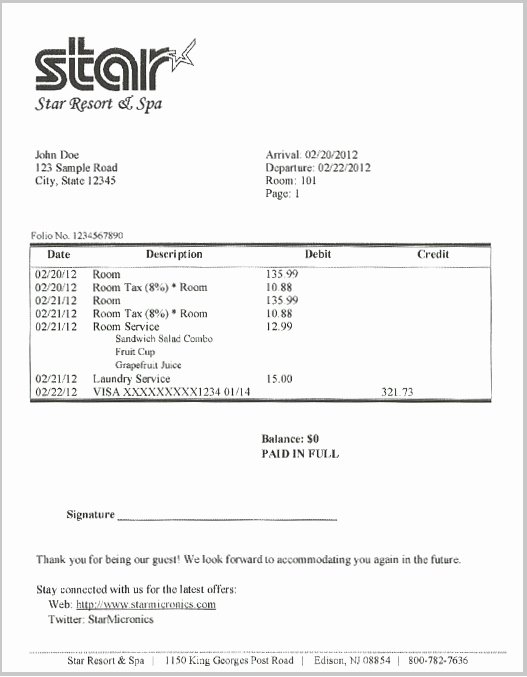 Motel 6 Receipt Template New 23 Of Hilton Hotel Bill Template