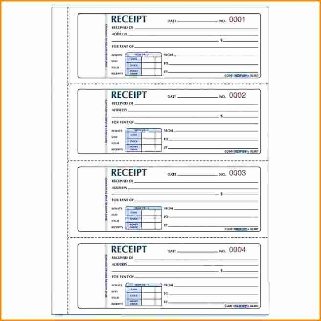 Motel 6 Receipt Template Unique 7 Rent Receipt Book Template Free