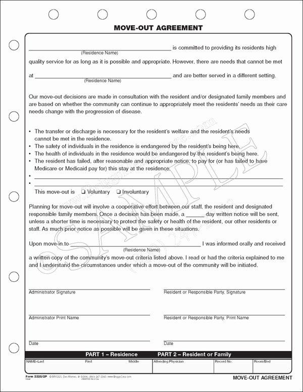 Move Out Agreement form Elegant Move Out Agreement