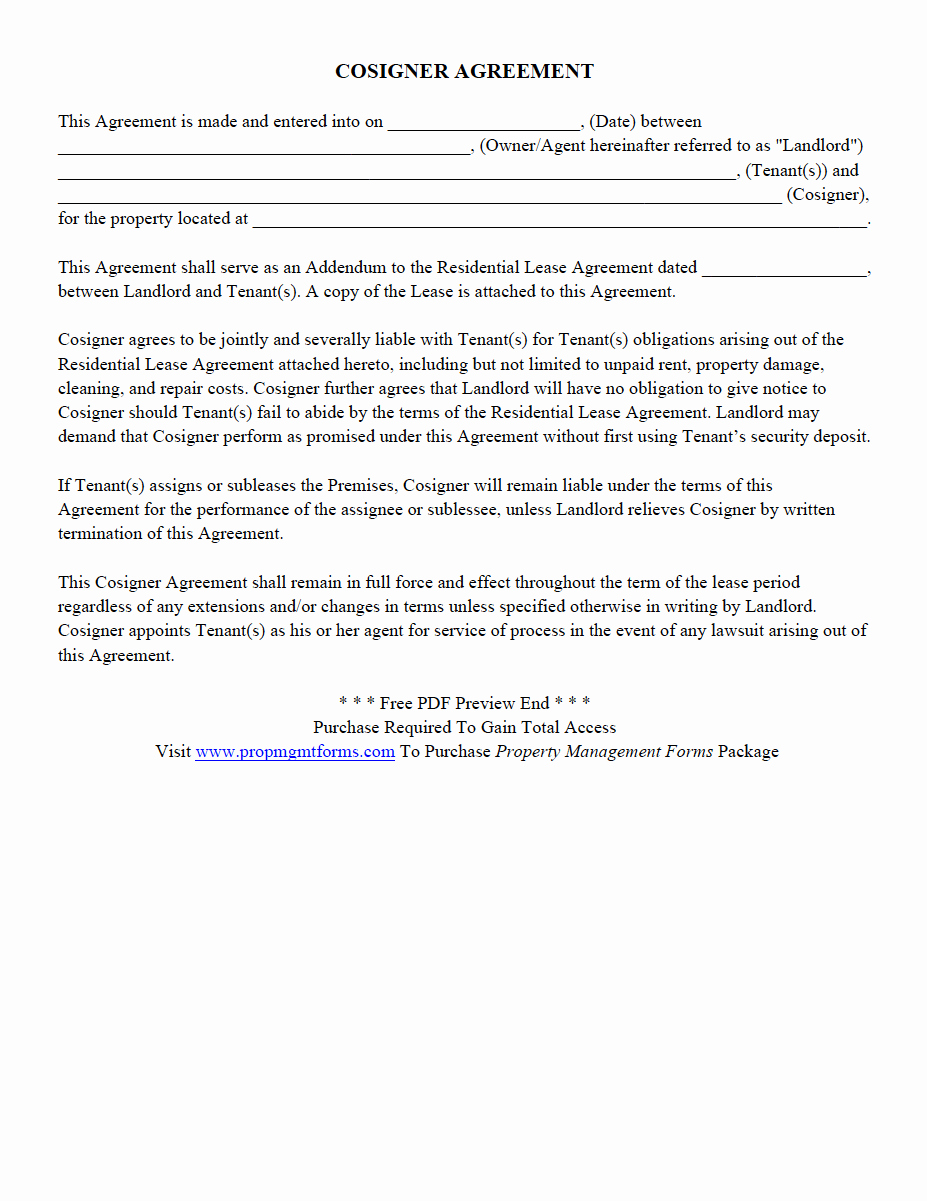 Move Out Agreement form Fresh Property Management forms