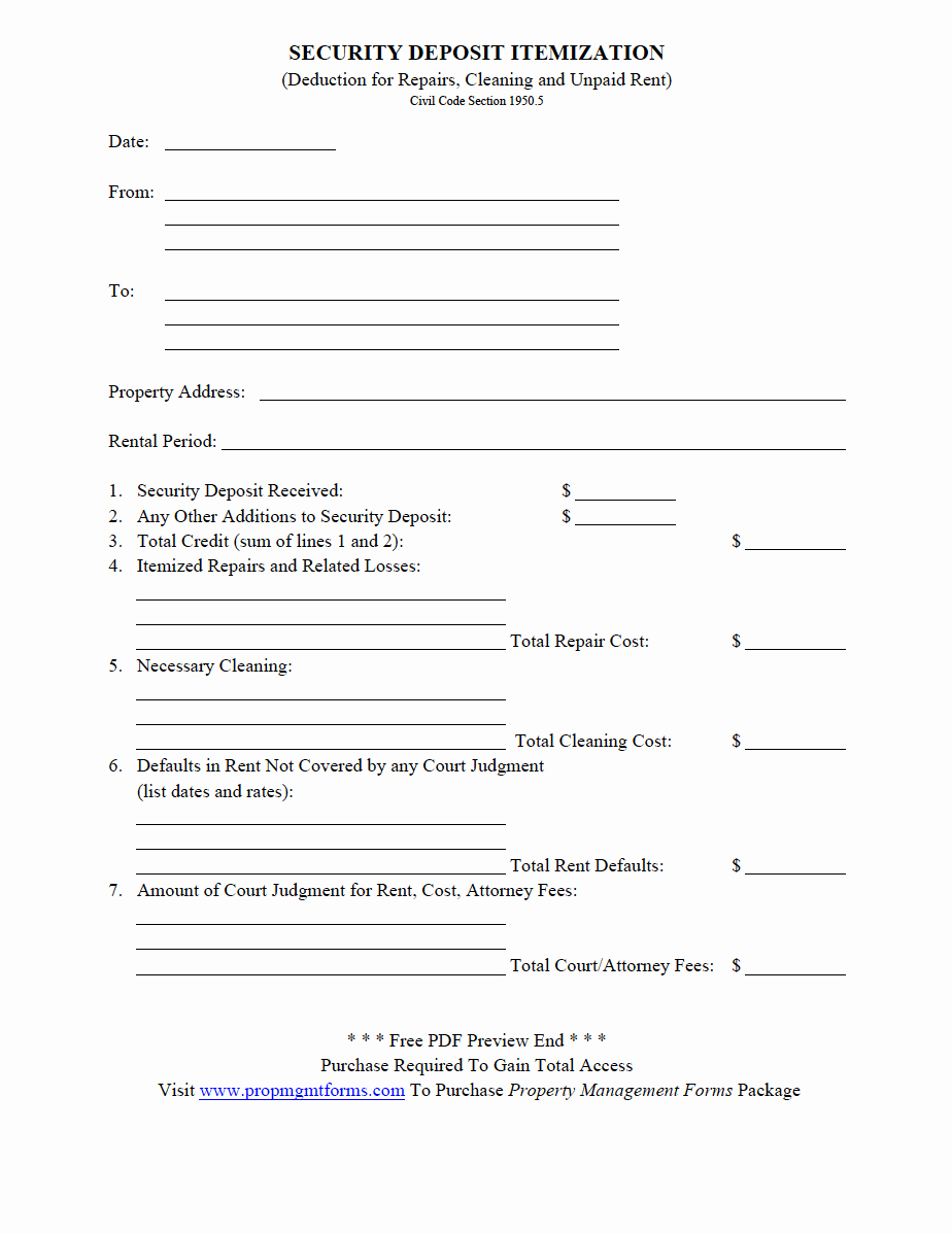 Move Out Agreement form Luxury Property Management forms