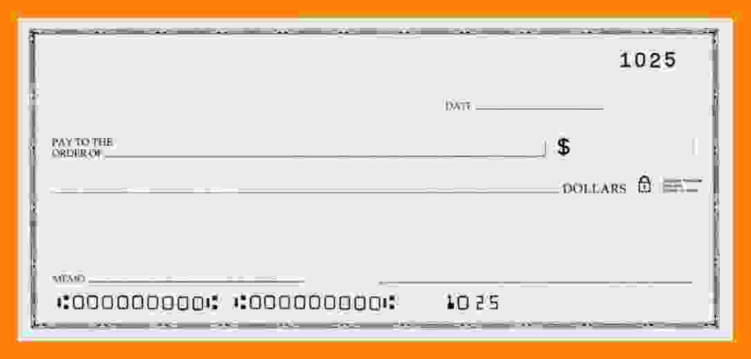 Ms Word Check Template Unique 6 Blank Payroll Check Template