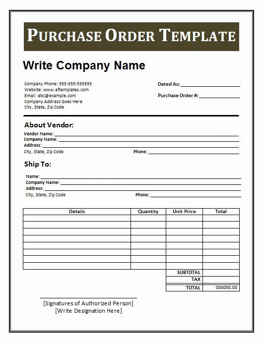Ms Word Purchase order Template Beautiful 39 Free Purchase order Templates In Word & Excel Free