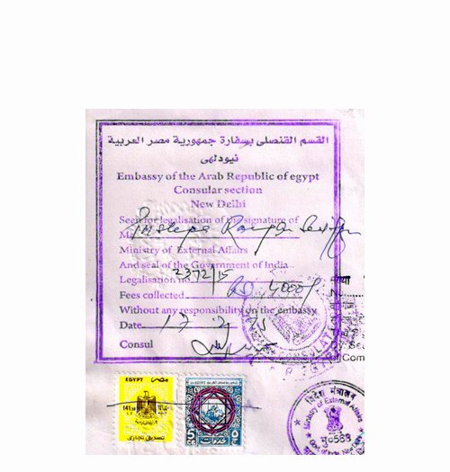 Mumbai Birth Certificate Best Of Poa attestation for Egypt In Mehsana