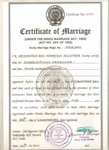 Mumbai Birth Certificate Fresh Marriage Certificate Service Lakshadweep Kavaratti