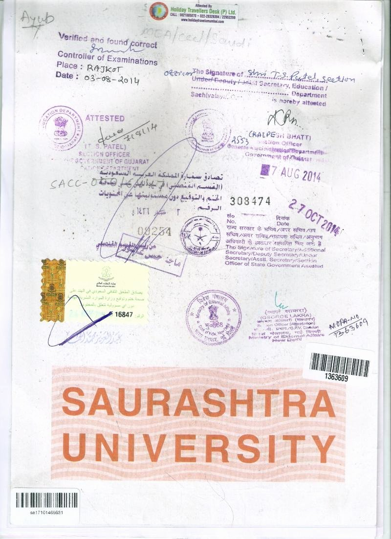 Mumbai Birth Certificate Lovely Holiday Travellers Desk Pvt Ltd Saudi attestation In Mumbai