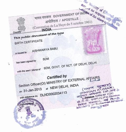 Mumbai Birth Certificate Luxury Certificate Apostille In Pune Nashik Jalgaon Sangli Dhule