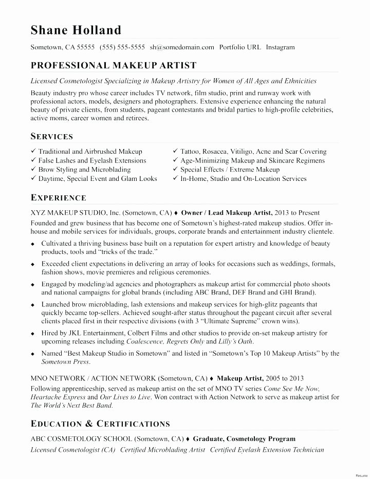 Music Business Plan Template Unique Makeup Studio Business Plan Sample