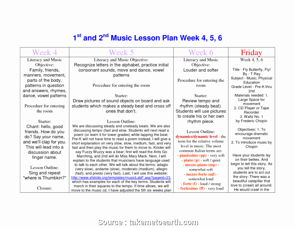 Music Lesson Plan Template Doc Awesome 4 Brilliant Music Lesson Plans Infants Galleries