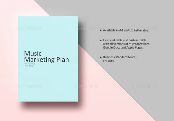 Music Marketing Plan Template Beautiful 14 Sample Marketing Plan Templates