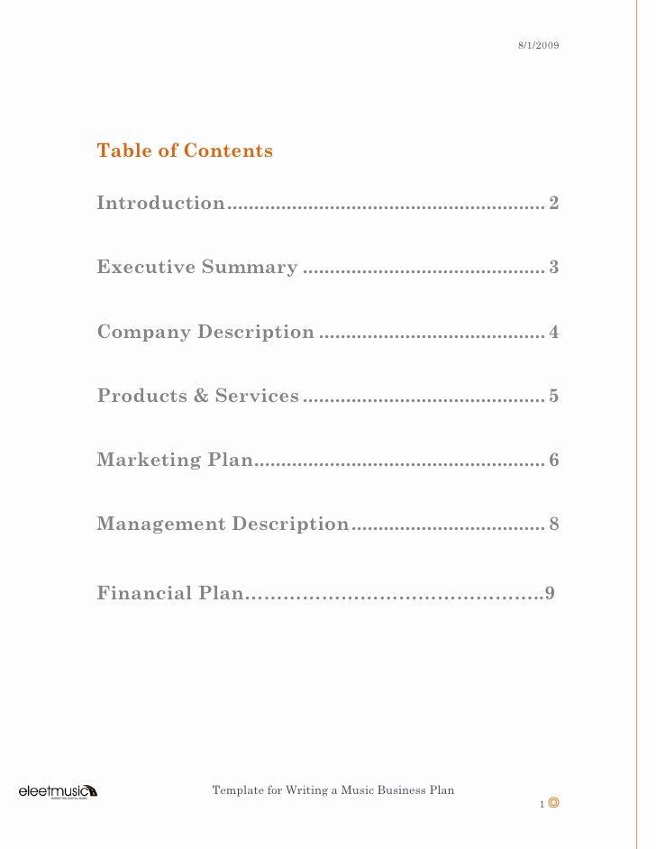 Music Marketing Plan Template Best Of Template for Writing A Music Business Plan