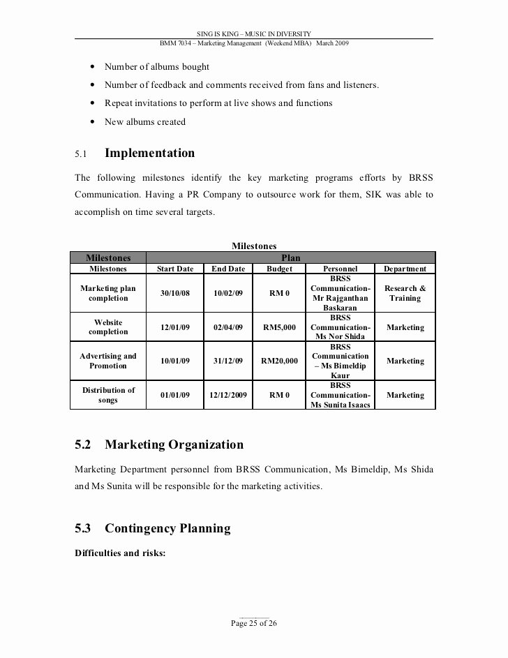 Music Marketing Plan Template Lovely Action Plan Template Sample Slips Falls the E390 Web