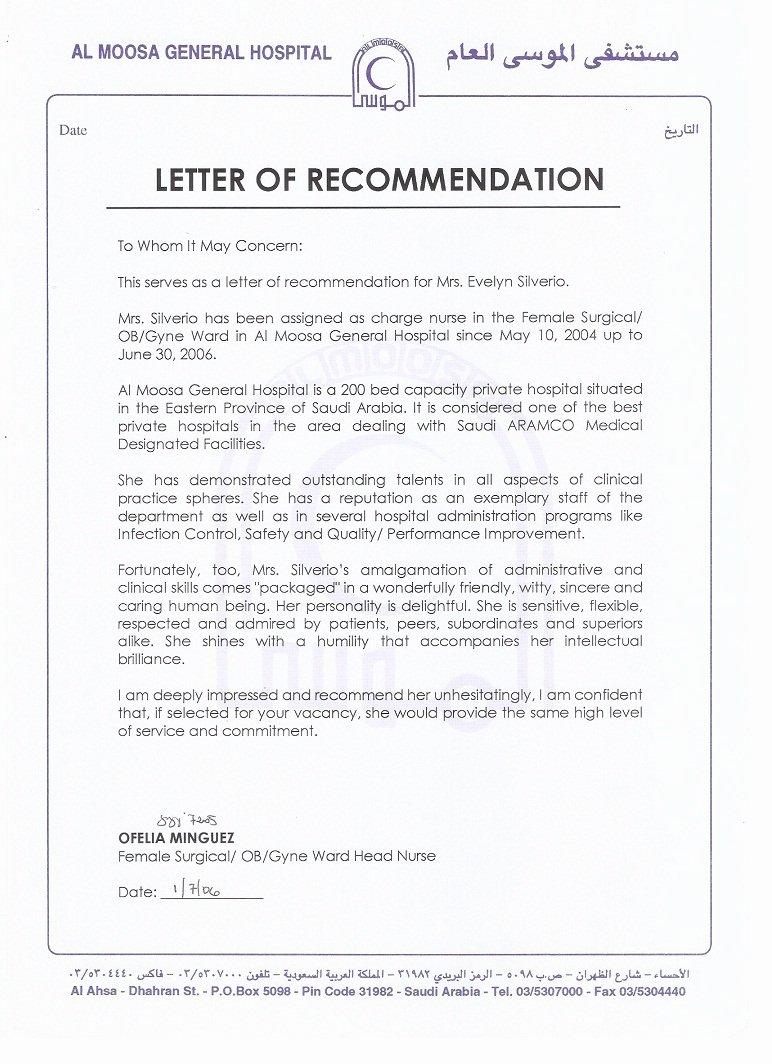 Nanny Letter Of Recommendation Inspirational 3 Al Moosa Gen Hospital Letter Of Re Mendation 2