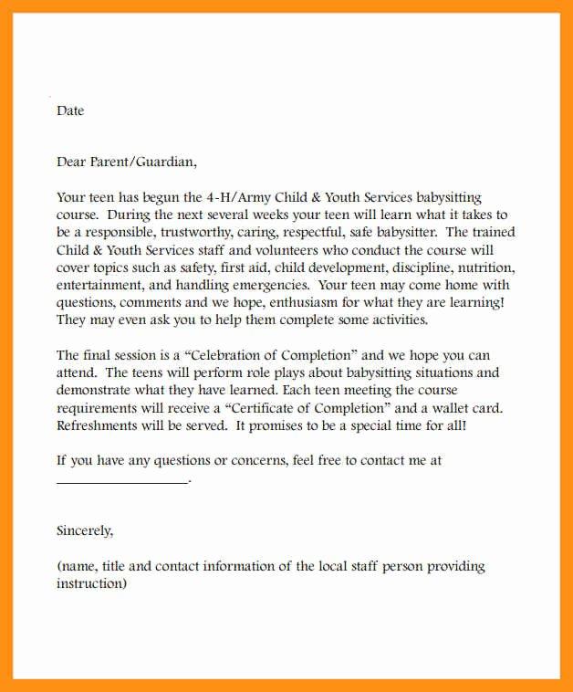 nanny letter of re mendation