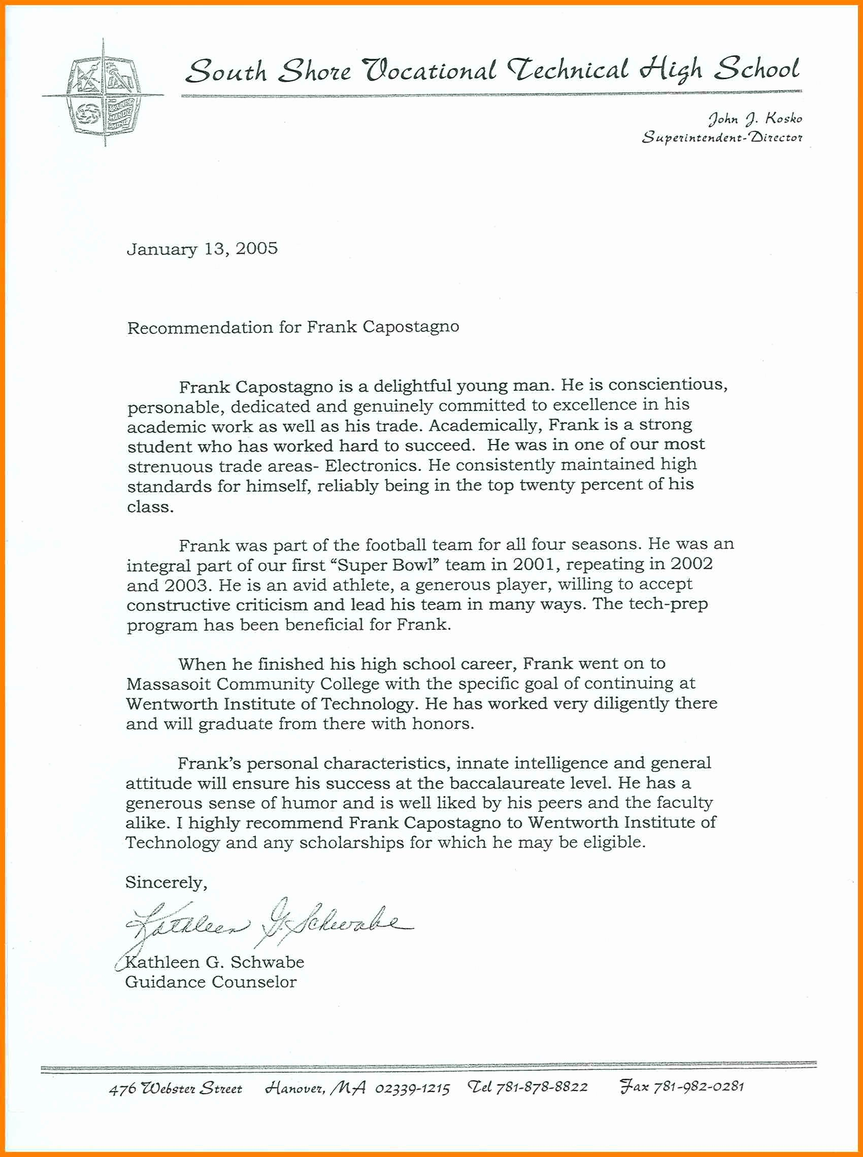 National Honor society Recommendation Letter Inspirational 8 National Honor society Letter Of Re Mendation
