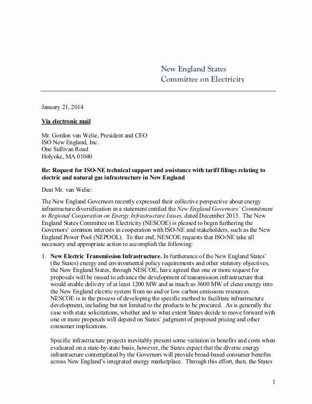 National Interest Waiver Recommendation Letter Inspirational New England States Request for New Marcellus Natgas Pipeline