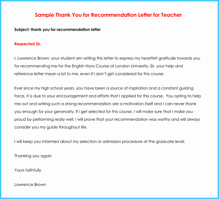 Naval Academy Recommendation Letter Unique Teacher Re Mendation Letter 20 Samples Fromats