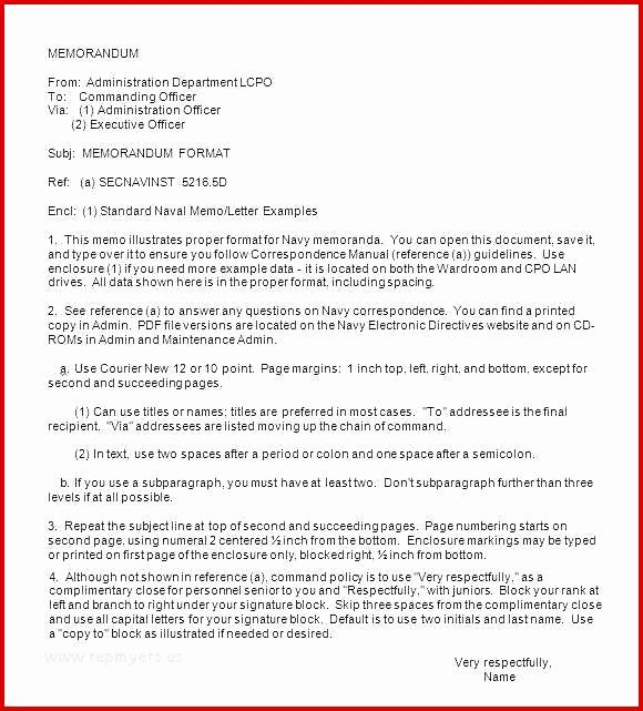 Naval Letter format Template Best Of Naval Letter format Codes Impressive Best S Example