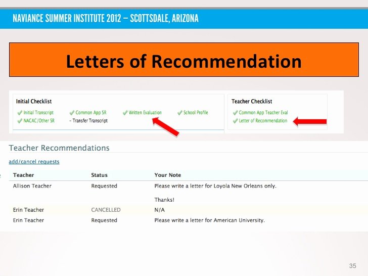 Naviance Letter Of Recommendation Inspirational Nsi 2012 Aaaa An All Around Approach to Using Naviance