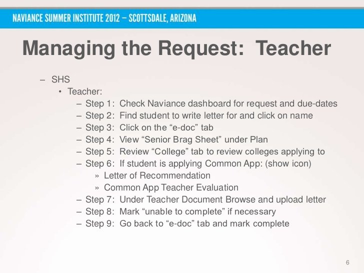 Naviance Letter Of Recommendation Inspirational Nsi 2012 How to Mobilize Students Parents and Staff to