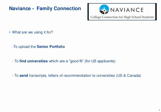 Naviance Letter Of Recommendation Lovely Grade 11 Parent Meeting Spring 2016