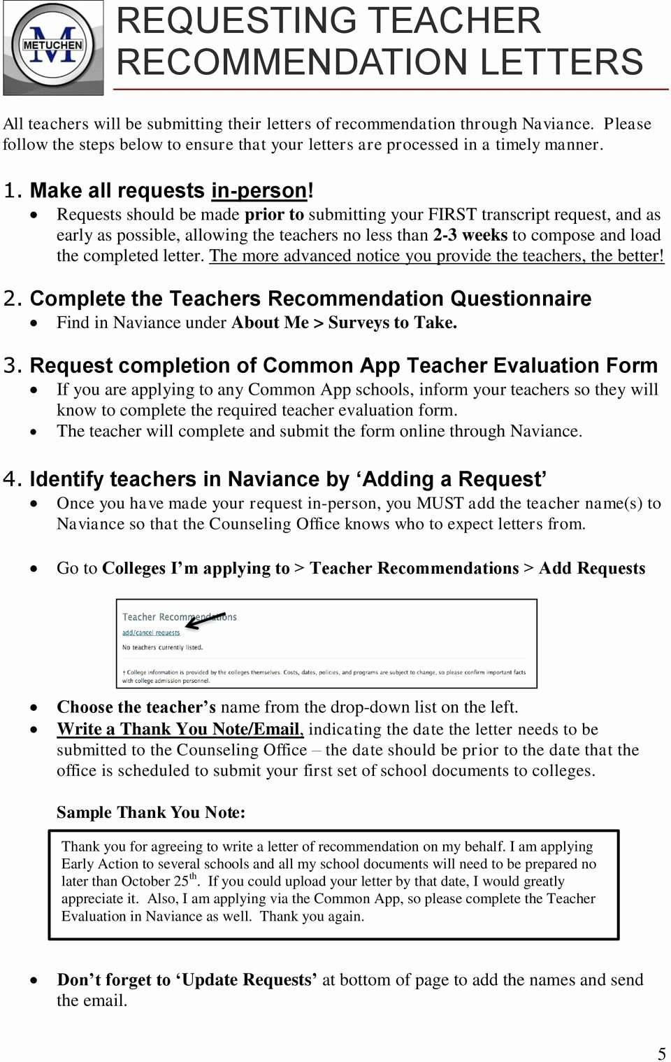 Naviance Letter Of Recommendation Luxury the College Application Handbook Pdf