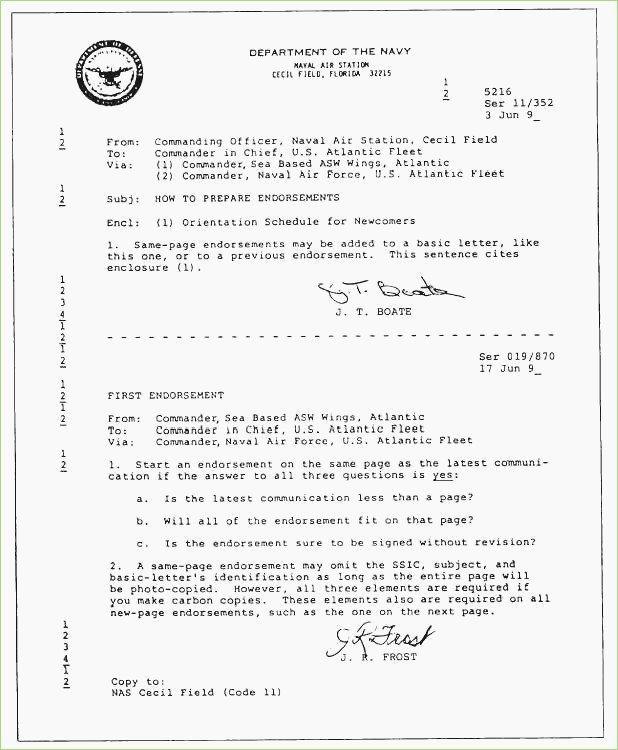 Navy Letter format Template Elegant Navy Endorsement Letter format – thepizzashop