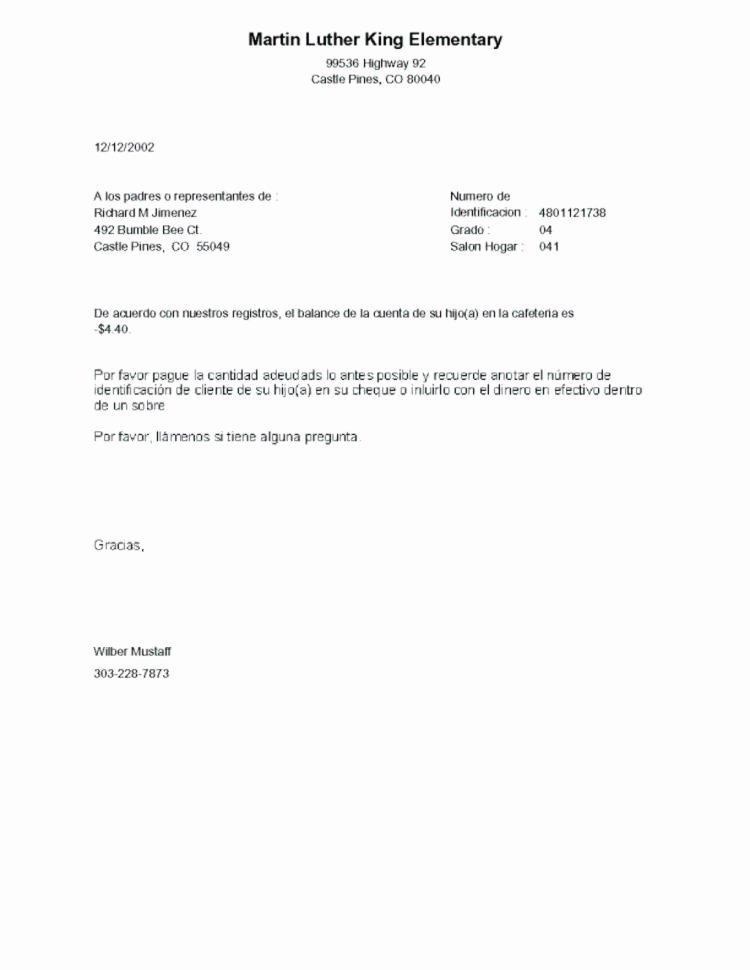Negative Letter Of Recommendation Elegant Negative Balance Letter