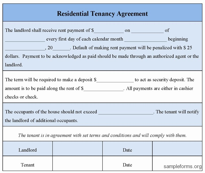 Net 30 Agreement Template Elegant 47 Quick Tenancy Agreement form Va Z