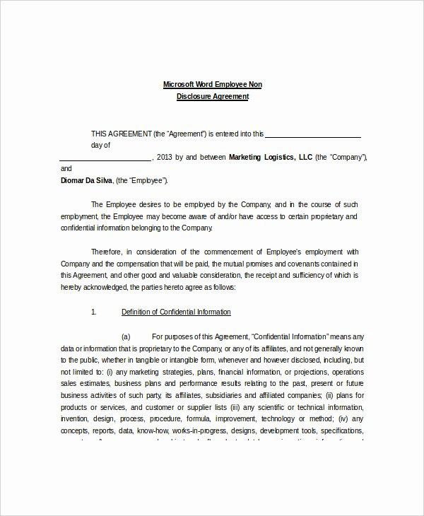 Net 30 Terms Agreement Template Beautiful Ncnd Agreement