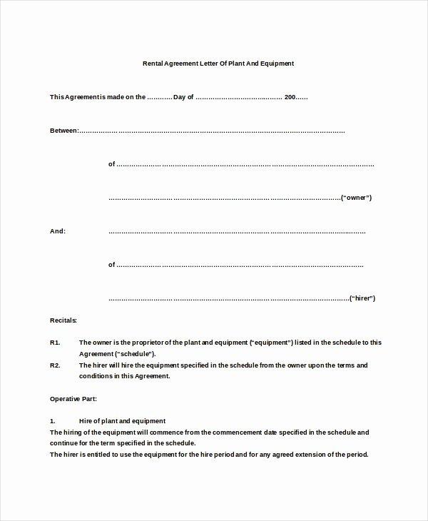 Net 30 Terms Agreement Template Elegant 6 Rental Agreement Letter Doc Pdf