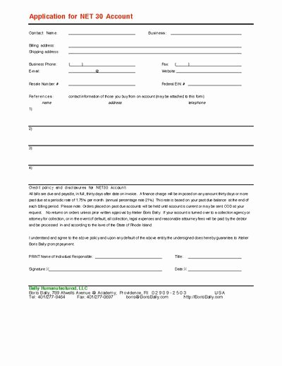 Net 30 Terms Agreement Template Fresh Net 30 Invoice Template