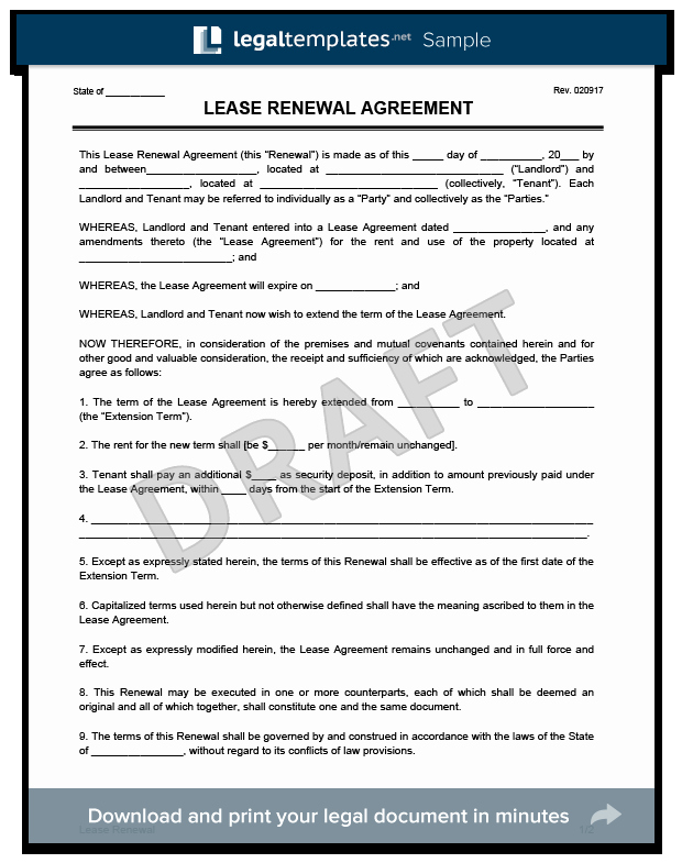 Net 30 Terms Agreement Template Lovely Create A Free Lease Renewal Download & Print
