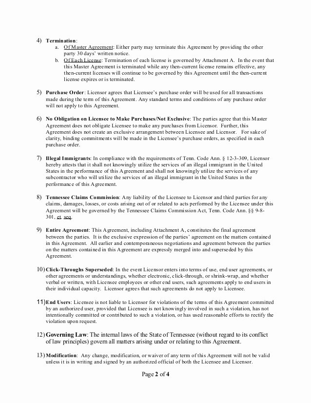 Net 30 Terms Agreement Template Lovely Master Agreement Template Streaming Media