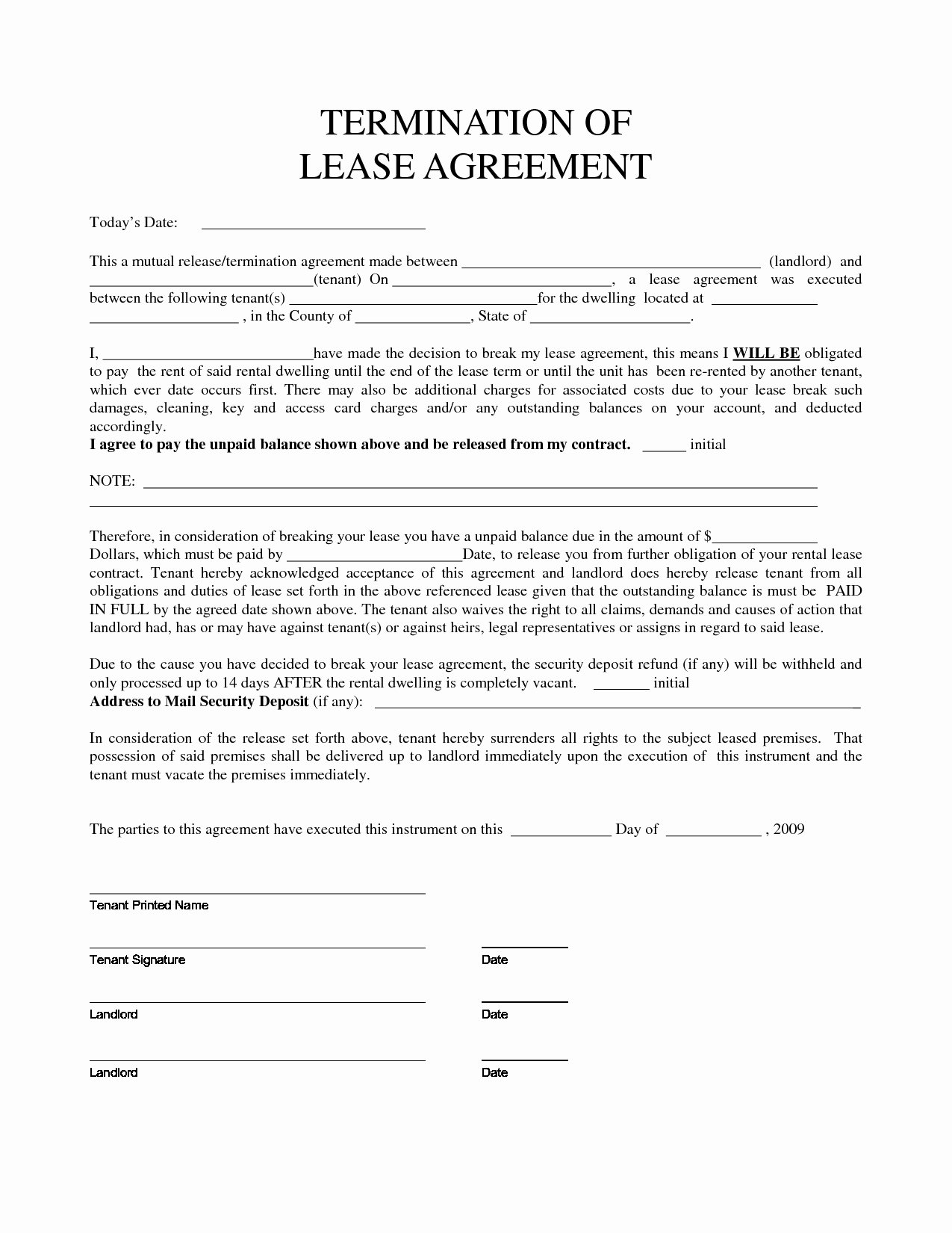 Net 30 Terms Agreement Template Luxury Termination and Release Agreement Template Exclusive