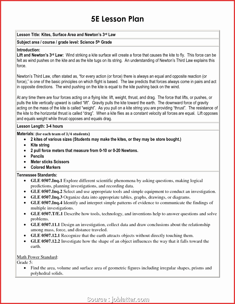 Ngss Lesson Plan Template Awesome 5e Lesson Plan Template Texas for Math Ngss